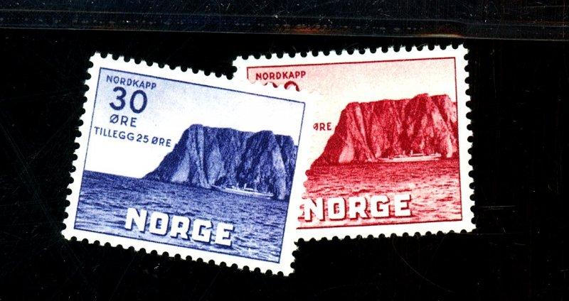 NORWAY #B9-10 MINT FVF OG HR Cat $17