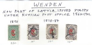 WENDEN 1875-1884 SCV $38.50 NOW PART OF LATVIA AT 20% OF CAT VALUE