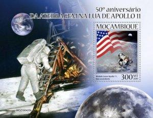 MOZAMBIQUE (MOÇAMBIQUE) / 2019 Apollo 11. Block