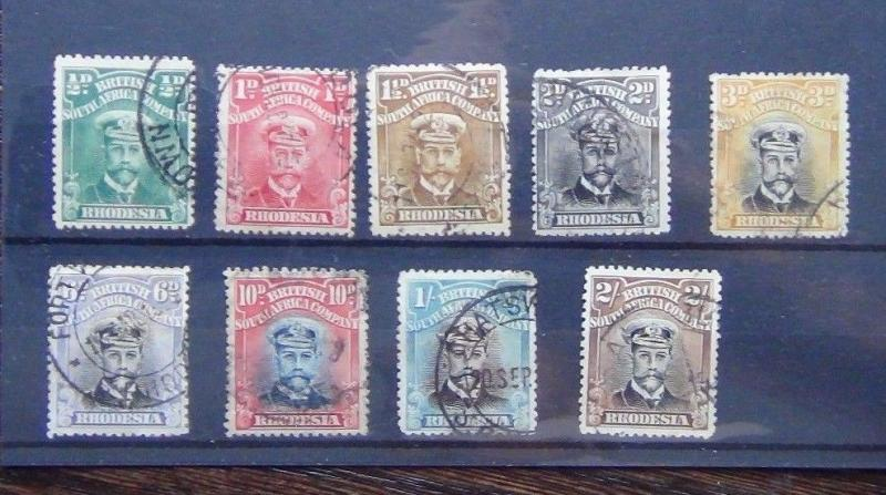 Rhodesia 1913 valeurs to 2 s D'occasion