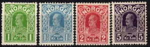 Norway #70-73  F-VF  Unused   CV $10.00 (X5416)