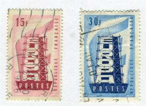FRANCE; 1956 early Europa issue fine used SET