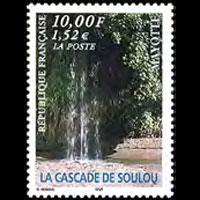 MAYOTTE 1999 - Scott# 131 Waterfalls Set of 1 NH