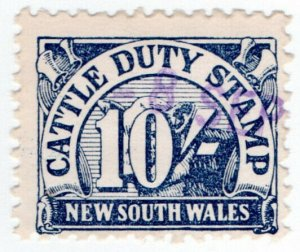 (I.B) Australia - NSW Revenue : Cattle Duty 10/-