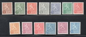 Finland Sc 312-23 1954-59 Coat of Arms stamp set mint