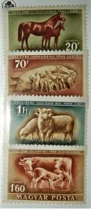 1951 HUNGARY # C87-90 Mint LIVESTOCK FARM ANIMALS