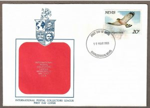 Nevis # 403 , Broad Winged Hawk FDC - I Combine S/H