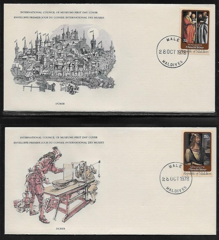 Maldives 766-71 Durer Paintings Unaddressed FDC