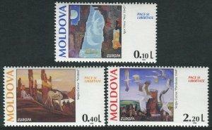 1995 Moldova 164-166 Painting / Europa Cept 12,00 €