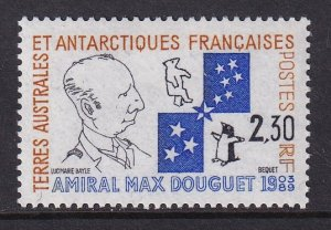 French Southern and Antarctic Territory  #160  MNH  1991 admiral Max Douget