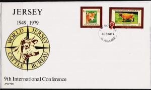 Jersey. 1979 FDC. Jersey Cattle. Fine Used
