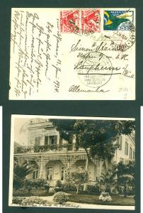 Brazil. Postcard, Photo 1934. Graf Zeppelin. Spc. Cancel: Fr.Hafen Bodensee