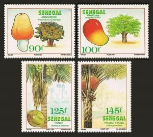 Senegal 928-931,MNH.Michel 1131-1134. Trees & fruits,1991.