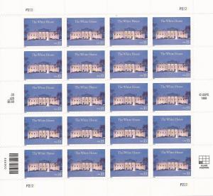 US Stamp - 2000 White House 200th Anniversary - 20 Stamp Sheet #3445