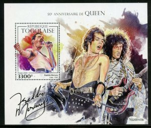 TOGO 2020  50th ANNIVERSARY  OF QUEEN  SOUVENIR SHEET MINT NEVER HINGED
