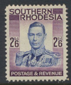 Southern Rhodesia  SG 51  SC# 53  Mint Very Light trace of Hinge   see scans