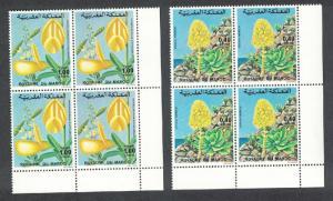 Morocco Flowers 2v Corner Blocks of 4 issue 1977 SG#478=480