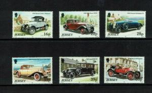 Jersey 1992, Vintage Cars, (2nd series)   MNH set