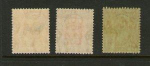 Malaya Perak 1938 SG 116-118 MH