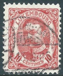 Luxembourg, Sc #82, 10c Used