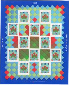 Canada - #1607a Canada Day 1996, Full Pane Of 12 - MNH