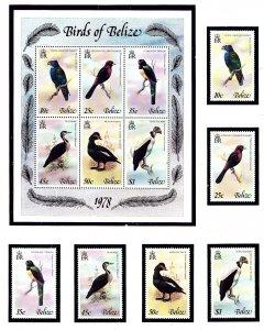 Belize 398-403a MNH 1978 Birds