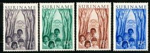 Suriname Stamps # B58-61 VF Used OG Scott Value $24.00
