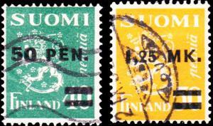 Finland Scott 195-196 Used.