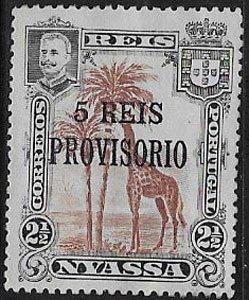 Nyassa, Sc 49, overprint, MNH, original gum