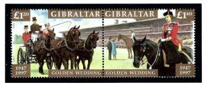 Gibraltar 734a MNH 1997 QEII Golden Wedding Anniv