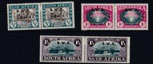 SOUTH WEST AFRICA  1939  S G 111 - 113    HUGUENOTS LANDING   MH CAT £65