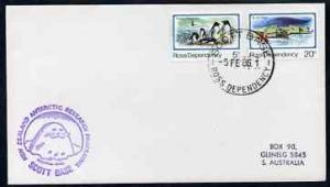 Ross Dependency 1986 cover bearing 5c penguins & 20c ...