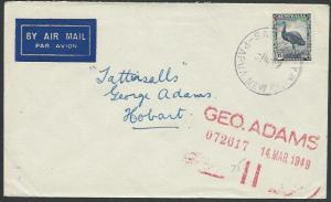 PAPUA NEW GUINEA 1950 AUSTRALIA PERIOD cover SAMARAI cds in violet.........88999