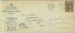 83776 - Caribbean - Postal History - Censored FDC Cover  to USA 1942 - Politics