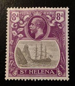St. Helena Scott 86 KGV Definitive Eight Penny-Mint