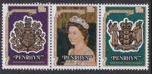 Penrhyn Island #104a-c F-VF Mint NH ** QE II Coronation