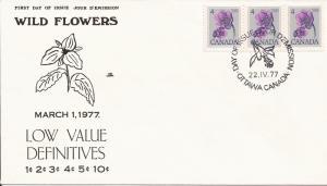 1977 Canada (NR) FDC - Sc 709 - Floral - Hepatica - So3