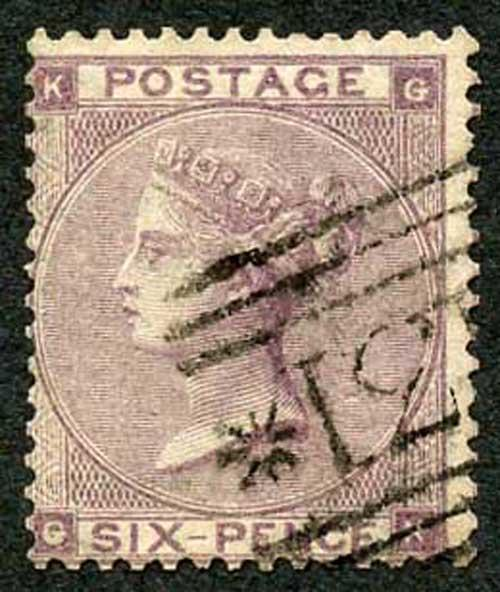 SG84 6d Pale Lilac plate 3 Very Fine Used Cat 140 pounds