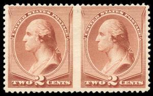 momen US Stamps #211Bc Mint OG VF Pair APS Cert