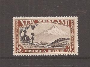 NEW ZEALAND (0707d) 3/- MOUNTAIN SG590  MOG
