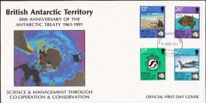 British Antarctic Territory Scott 180-183 Unaddressed.