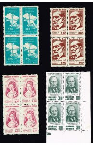 BRAZIL STAMP MNH BLK OF 4 STAMPS LOT
