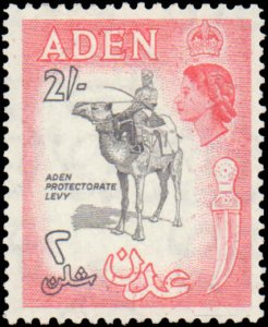 Aden #57-57A, Incomplete Set(2), 1953-1956, Hinged