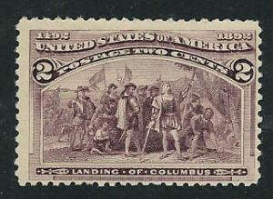 231 MNH,  2c. Columbian,   scv: $40