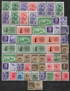 COLLECTION LOT OF 55 ITALY SOCIAL REPUBLIC 1944+ MH STAMPS CLEARANCE
