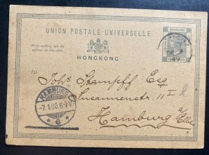 1906 Hong Kong PO In Shanghai China Stationery Postcard Cover to Germany