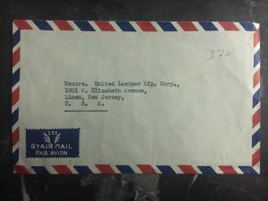 1952 Bangkok Thailand Airmail cover to Linden NJ Usa