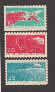GERMANY - DDR SC# 549-51 F-VF MNH 1961