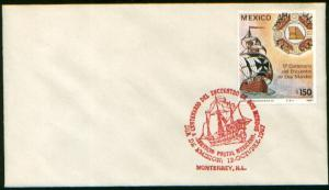 MEXICO 1519, FDC Preparation 500th Anniv of Columbus Voyages