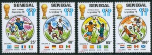 1978 Senegal 671-674 1978 FIFA World Cup in Argentina
